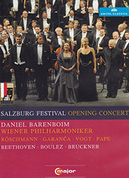 Opening Concert of the 2011 Salzburg Festival, DVD