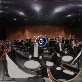 2017 Salzburg Easter Festival, This is what it looks like to a musican in an orchestra - 360°
